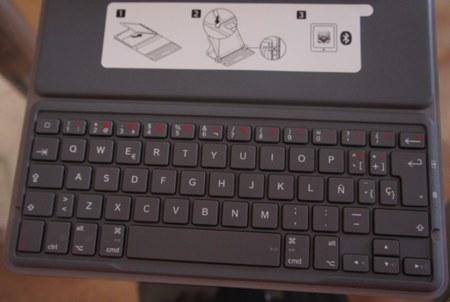 Detalle ampliado del teclado