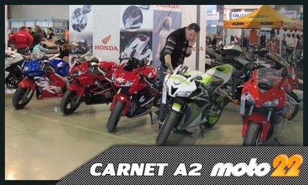 Permiso de conducir motos, carnet A2