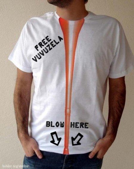 Sopla mi vuvuzela, la camiseta del verano