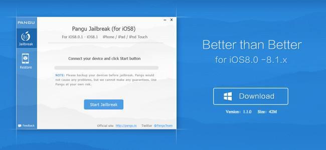 Ahora sí, Pangu lanza un jailbreak con Cydia para todos los dispositivos con iOS 8.1 y en inglés
