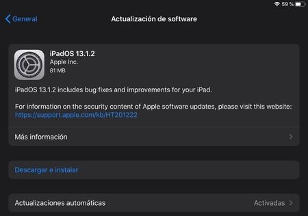 Apple libera iOS 13.1.2, iPadOS 13.1.2 y watchOS 6.0.1 con correcciones de errores