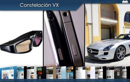 La tecnología 3D nos invade, los iPhones 4G se siguen perdiendo y el bonito Mercedes SLS AMG. Constelación VX (VI)