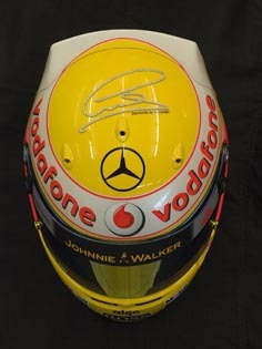 El casco de diamantes de Hamilton para Mónaco