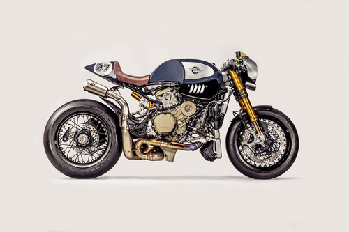 """No es roja y es Ducati, esta Panigale R """"The Blue Shark"""" te va a romper todos los esquemas"""