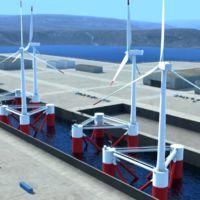 La primera turbina eólica en alta mar