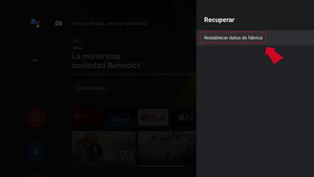 Borrar Android Tv 4