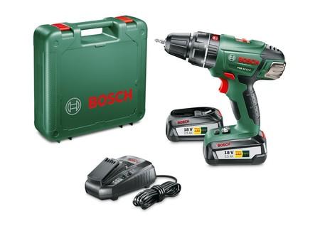 El taladro atornillador Bosch PSB 18V está rebajado a 199,90 euros en Amazon. Incluye dos baterías de litio y maletín