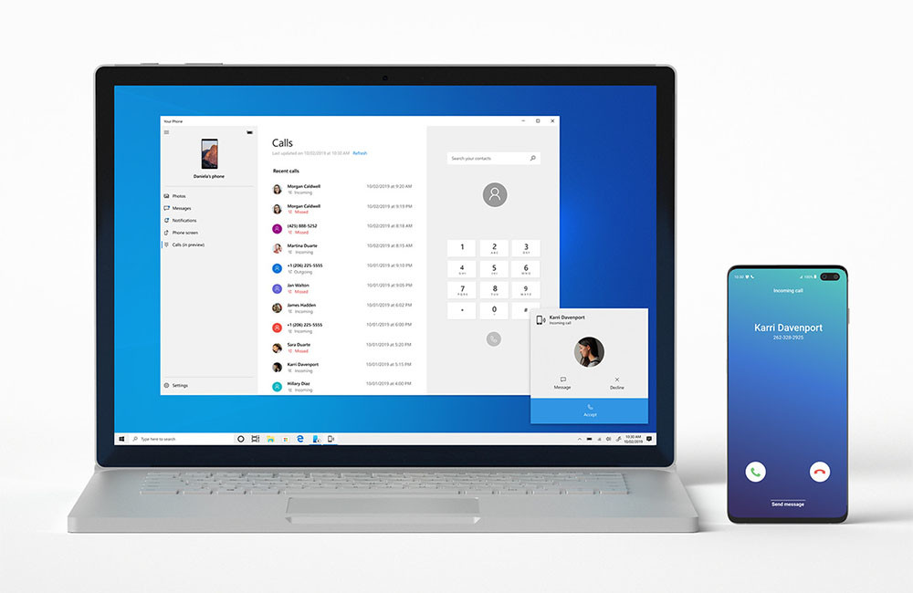 Windows 10 now allows you to link your Android phone to receive and make calls from your PC