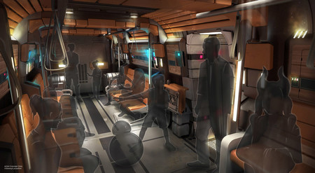 Star Wars Galactic Starcruiser Concept Art Interior