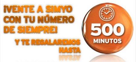 Hasta 500 minutos gratis para nuevos clientes en Simyo