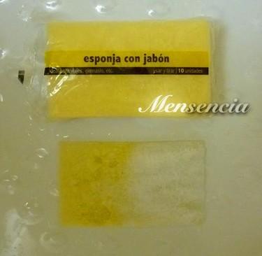 La esponja con jabón de un solo uso, muy práctico para ir al gimnasio o de viaje