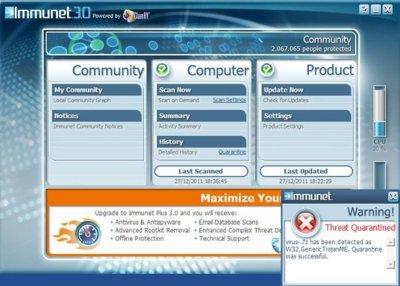Immunet Protect 3.0, con Clam AV integrado como motor de detección de virus