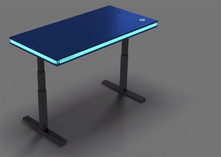 MisterBrightLight es una mesa que sube, baja, y muestra nuestros estados de actividad