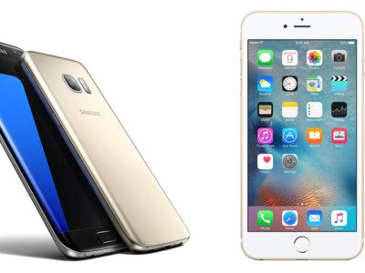 Samsung Galaxy S7 Edge y iPhone 6s Plus: el gran enfrentamiento de los phablets de 5,5 pulgadas