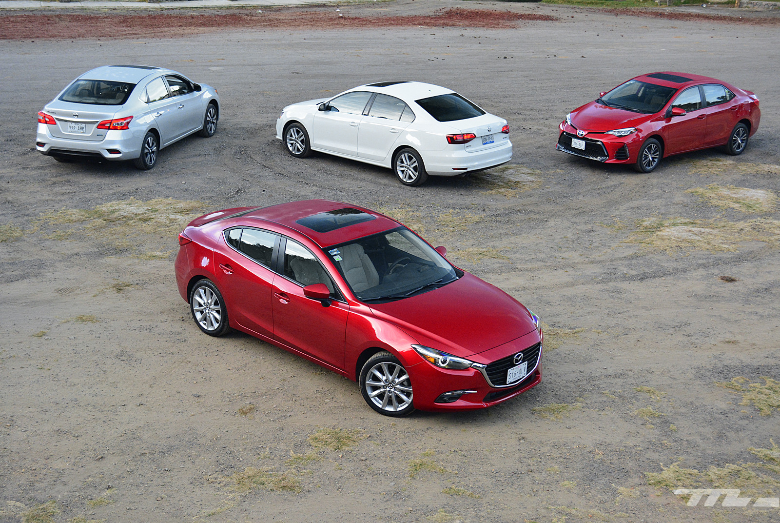 Foto de Comparativa: Mazda3 vs. Nissan Sentra vs. Toyota Corolla vs. Volkswagen Jetta (5/60)