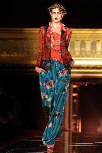 John Galliano Primavera-Verano 2011 blusa