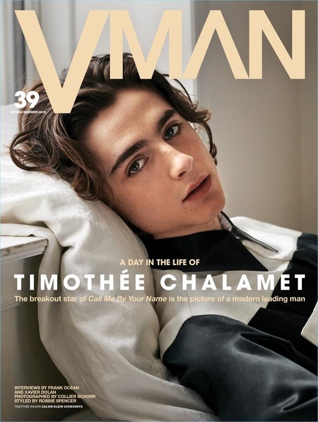 Timothée Chalamet sigue de moda y lo demuestra en la portada de VMAN