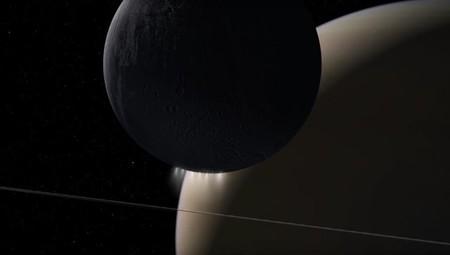 Grabación de audio de ondas de plasma de Saturno y Encélado