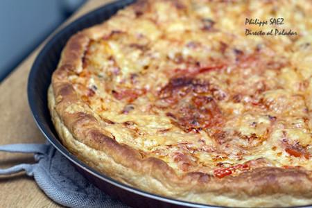 Tarta de jitomate y queso Emmental