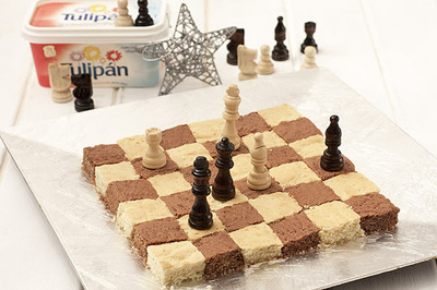 Receta de bizcocho tablero de ajedrez
