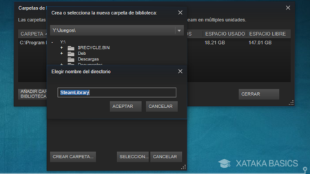 Crear Carpeta Steamlibrary