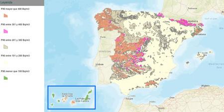 Mapa Radon