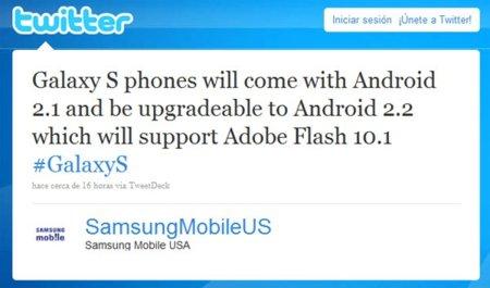 Android 2.2 llegará a toda la familia de teléfonos Samsung Galaxy S