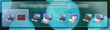 opciones para proyectores Windows 7