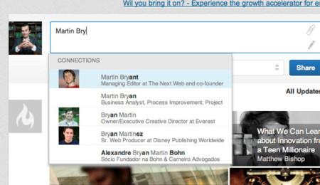 LinkedIn prueba un nuevo sistema de menciones, al estilo de Facebook