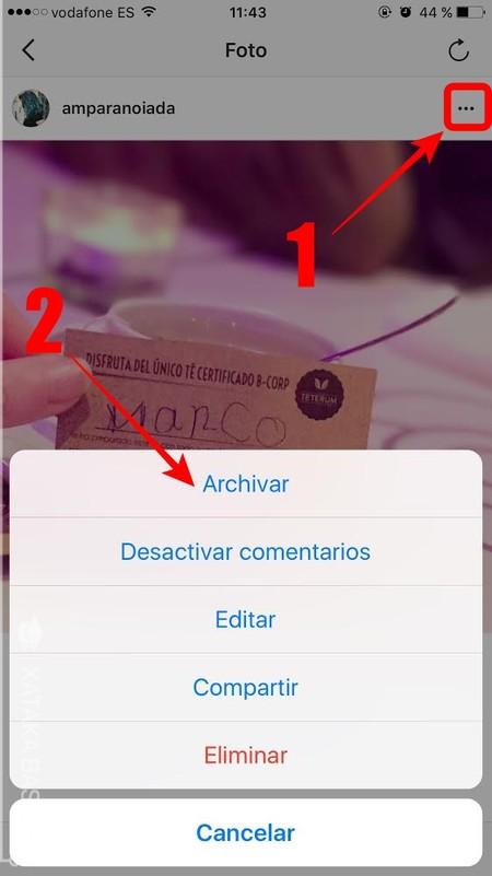 Archivar Una De Tus Fotos De Instagram