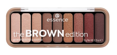 Essence The Brown Edition Eyeshadow Palette Image Front View Closed Png
