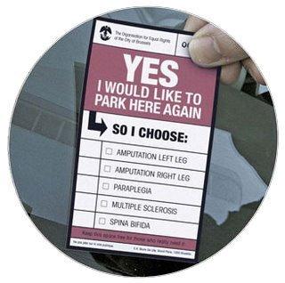 Campaña contra los que aparcan en zonas de minusválidos