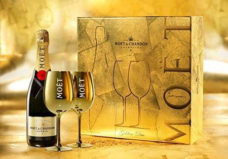 Un lujo de Navidad: un brindis para dos con Moët & Chandon Golden Premium Box
