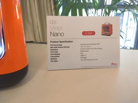 detalles de la da Vinci Nano