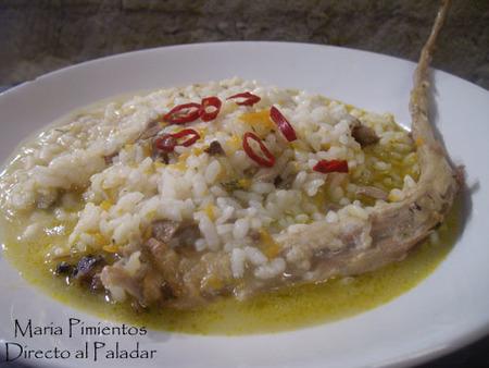 Caldereta de arroz con cordero. Receta
