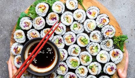 Mushroom Avocado Sushi Rolls Vegan Gluten Free Inspiration Anett Velsberg En 662