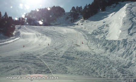 Audi winter driving experience Soldeu rampa