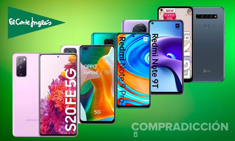 24 smartphones de Apple, LG, OPPO, Samsung o Xiaomi que te saldrán más baratos esta semana en El Corte Inglés, con descuentos de hasta un 33%