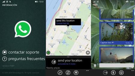 WhatsApp se actualiza en Windows Phone incorporando muchas funcionalidades de la beta