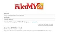 FilterMyRss, filtrando los contenidos de un mismo feed