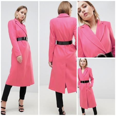 En Asos tienes el abrigo rosa que llenará de color tus looks de invierno por 54,49 euros y envío gratis