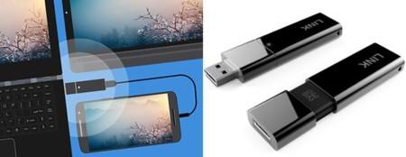 Lenovo LINK, un pendrive USB de 32GB para conectar y controlar Android desde un ordenador