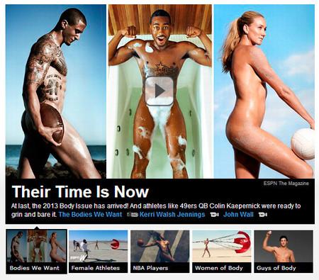 El culto al cuerpo y la fotografía de desnudo en la cadena de deportes ESPN