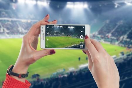 Fútbol en un smartphone