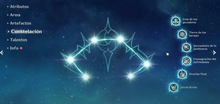 Constelaciones de Rosaria Genshin Impact