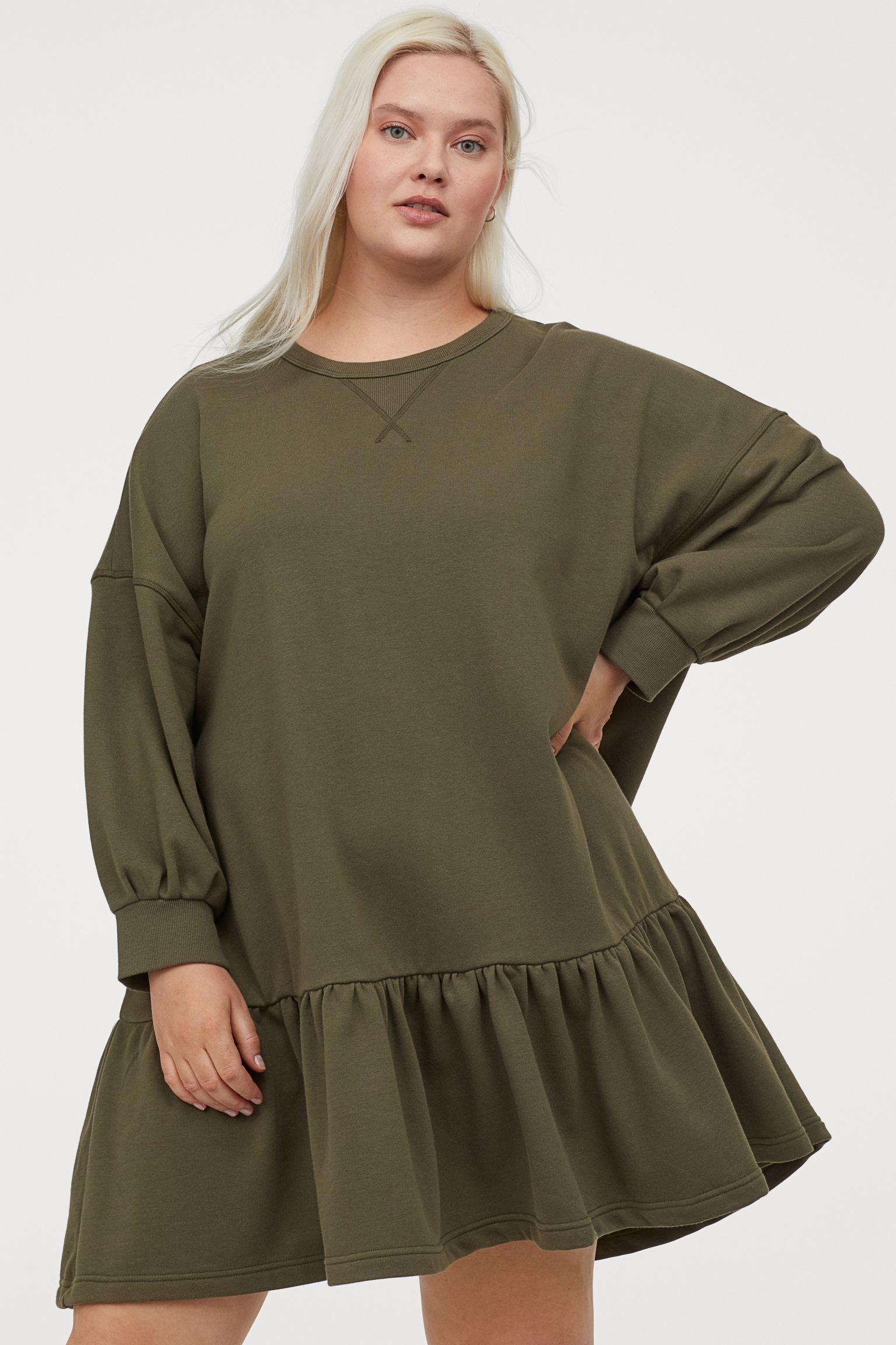 Vestido sudadera verde