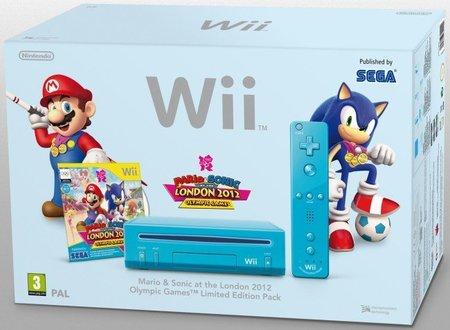Nintendo anuncia un pack con 'Mario y Sonic en los Juegos Olímpicos London 2012' que incluye una nueva Wii de color azul