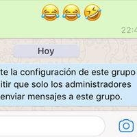 Cómo crear un grupo de WhatsApp en el que sólo pueden hablar los administradores