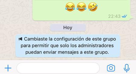4318081df5 Cómo crear un grupo de WhatsApp en el que sólo pueden hablar los  administradores