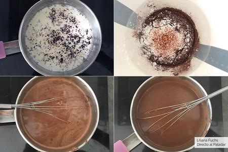 Cremoso de chocolate. Pasos